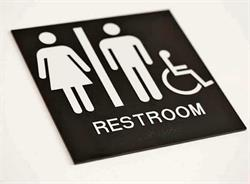 Economical Braille Restroom Signs