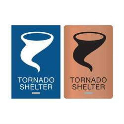 Tornado Shelter ADA Braille Signs
