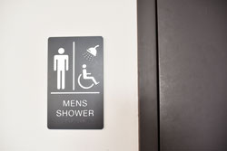 ADA Braille Shower Sign with Raised Text