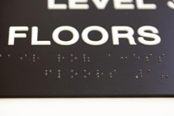 ADA Compliant Roof Access Stairwell Signs