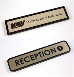Door Signs with Removable Name Plate