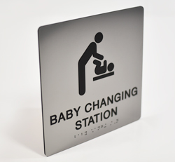 Baby Changing Signs with Tactile Text and Braille