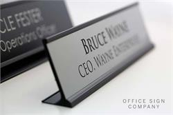 Desk Sign Black Frame