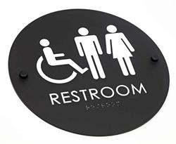 Black Restroom Signs, Contemporary Office sgins