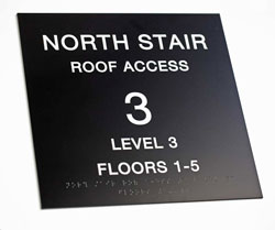 ADA Roof Access Signs