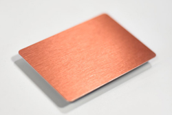 Blank Brushed Copper Metal Name Tag for Dry Erase, Labels or Permanent Marker