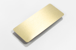 Brushed Gold Aluminum Blank Name Tag for Dry Erase Permanent Marker or Labels