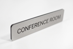 Brushed Aluminum Flush Mount Conference Room Sign