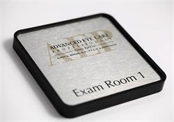 Full Color Exam Room Signs on Brushed Metal - Cool Office Signs