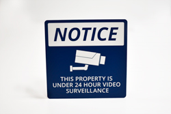 this property under video surveillance sign - 250×167