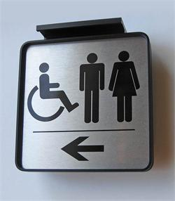 Ceiling mount directional signs - show the way