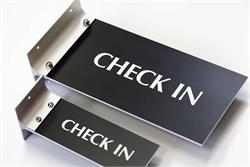 Check In Signs for Corridor and Hallway