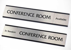 conference room signs sliding door signs in out signs