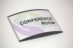 Braille Conference Room Signs Curved
