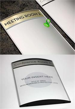 Conference Room Sign with Interchangeable Insert Area