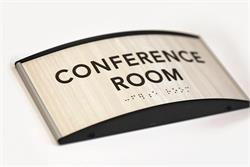 Curved Office Signs - Braille Conference Room Signs