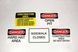 Outdoor Construction Signs