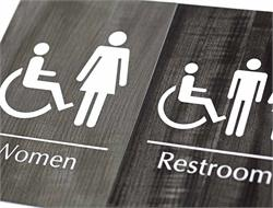 Cool Restroom Signs for Bathroom Door or Wall