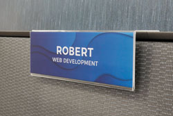 Cubicle Namplate Holder