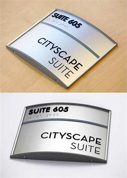 Curved Face Office Signs And Suite Signs
