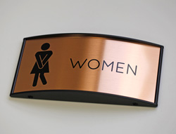 Interchangeable Restroom Sign with Metal Insert