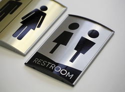 Metal Restroom Signs