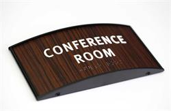 Curved Conference Room Sign