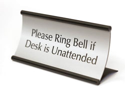 Office Signs - Curved Desk Signs