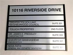 Metal Directory Sign with Interchangeable Plates