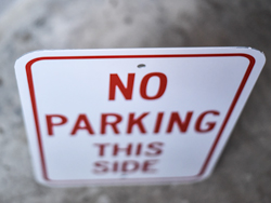 Personalized Non Reflective Parking Signs