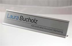 Premium Brushed Metal Desk Signs & Name Plates