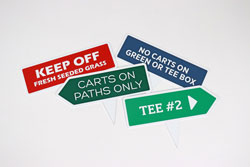 Directional Fairway Signs