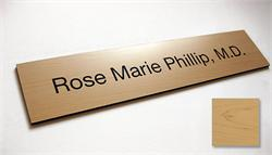 La Madera Rich Wood Office Signs & Employee Nameplates