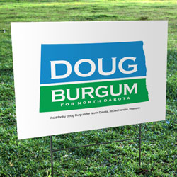 Doug Bergum Corrugated Yard Sign