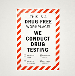 Vinyl Sticker for Drug Free Workplace and Drug Testing