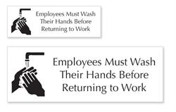 Employee Washroom Hand Washing Signs