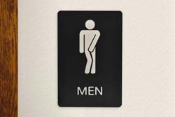 Funny Mens Bathroom Sign for the Office
