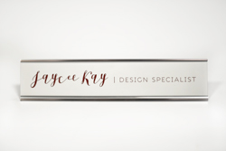 Polished Silver Desk Sign