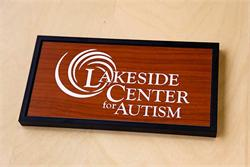 Laser Engraved Interchangeable Office Sign with Replaceable Plate