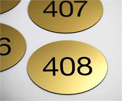 Oval Room Number Signs