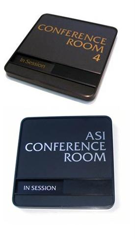 conference room slider nameplate signs occupied