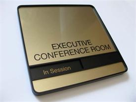 Executive Gold Conference Room Signs - Gold Metal Plate