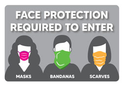 Face Protection Required Sticker