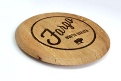 Personalized Barrel Lid with Reclaimed Wood