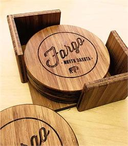 Fargo Coasters Hand Made from Bamboo