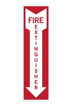 OSHA Approved Fire Extinguisher Arrow Wall Decal