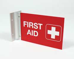Engraved First Aid Sign