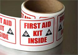 Fist Aid Kit Labels & Decals