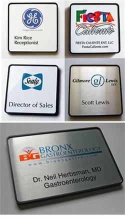 full color employee nameplates, room signs, door signs & office signs