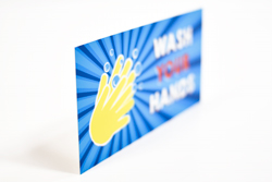Hand Washing Signs with Colorful Fun Design